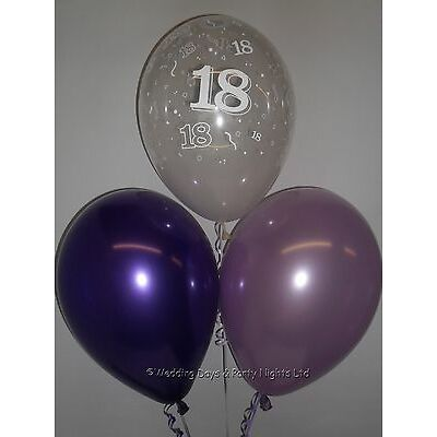 30 18th Birthday Party Helium or Air Balloons Clear Purple Lilac Decorations
