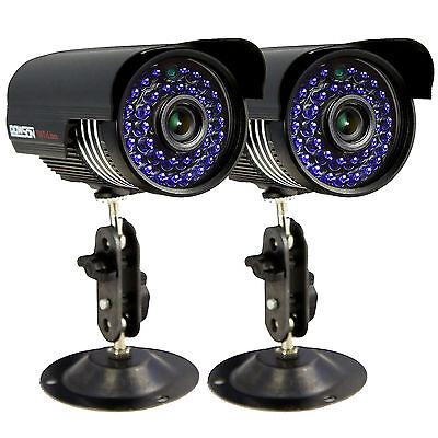 2 x 700TVL CCTV Surveillance Security Day Night 3.6mm Outdoor Waterproof Camera