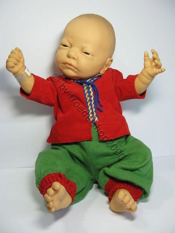 S1) zauberhafte Künstlerpuppe  Puppe  Baby  BERJUSA  No 100.001  lebensecht