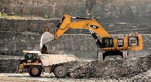 Cat caterpillar 6015b excavator 775g rock truck 43 x24 hd mining poster print - Mining images hd ...