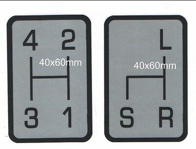 Realistisch Schaltschema Satz Aufkleber Holder A40,a45,a50 Bild1 Od.a660 Bild2 Od.e 9 Bild3