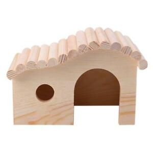 Small-Animal-Wooden-Sleeping-Nest-Hamster-Hedgehog-House-Bed-Dodge-Assembly-JT1
