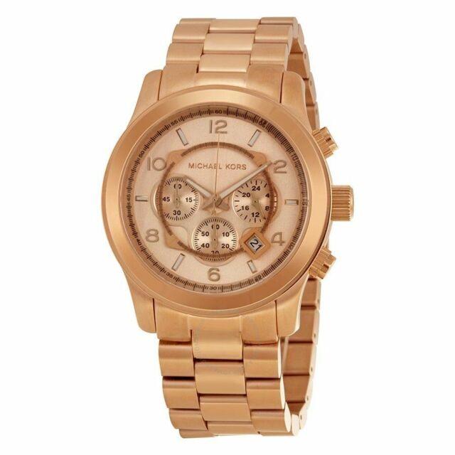Michael Kors MK8096 Runway Oversized Rose Gold Chronograph Watch