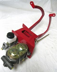 universal red manual clutch pedal assembly master cylinder ford image is loading universal red manual clutch pedal assembly master cylinder