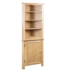 Image Is Loading Tall Corner Cabinet Solid Oak Wood Rustic Display
