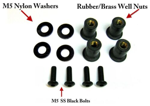 Motorcycle License Plate Bolt kit number plate bolts