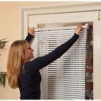 Window Blind White Vertical Curtain Magnetic Steel Door Mini Vinyl Privacy Shade