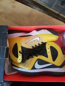 e856cace4fb Nike Air Max Lebron IX 9 PS ELite Maize White-Black-Sport Red 516958 ...