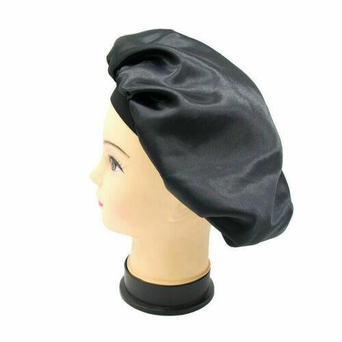 DE Long Hair Care Women Satin Bonnet Sleep Hat Cap Night Silk feel Cap Head Wrap