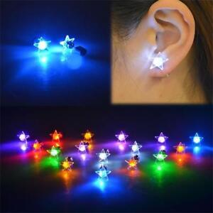 Image Is Loading Led Jewelry Star Light Up Glowing Earrings Blinking
