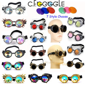 2ddaf94e4b1dc Image is loading Retro-Steam-Punk-Cyber-Goggles-Steampunk-Glasses-Vintage-
