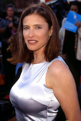 MIMI ROGERS satin gown busty 1990scolor 7x10 candid photo