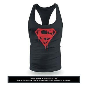 Gym Superman Americano Regalo Canotta Workout Idea Palestra Eroe xerdCWoB
