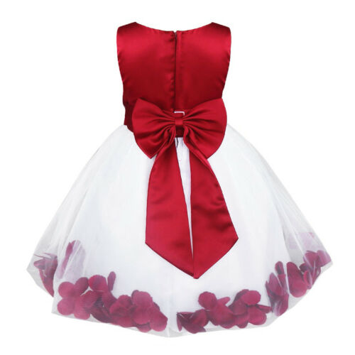 UK Flower Girls Princess Dress Party Wedding Bridesmaid Birthday Holiday Dresses