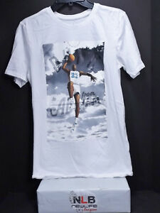 531437c2142f59 Air Jordan Retro T-Shirt Men s Small WHITE From Above College North ...