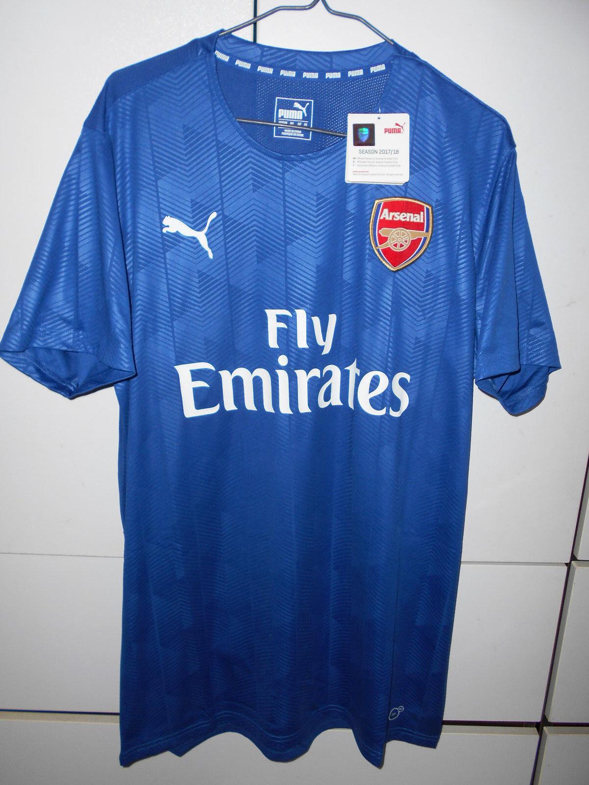Puma Authentic Soccer Arsenal 2017-18 Jersey Shirt Fans Training bluee M L XL