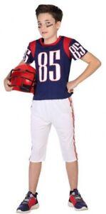 Adaptable Garçons American Football Quarterback Sports Fancy Dress Costume Outfit 3-12yrs-afficher Le Titre D'origine Les Consommateurs D'Abord