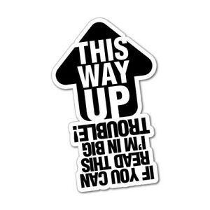 THIS WAY UP SIGN JDM Sticker Decal Car Drift Turbo Euro ...  THIS WAY UP SIG...
