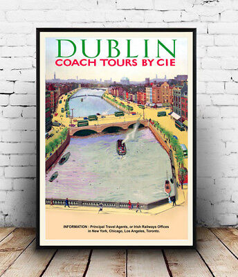 Dublin : Vintage Irish Travel advertising , poster, Wall ...