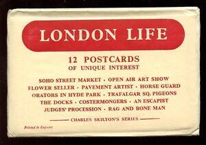 Charles-Skilton-Series-LONDON-LIFE-12-PPCs-in-original-envelope-c1940s