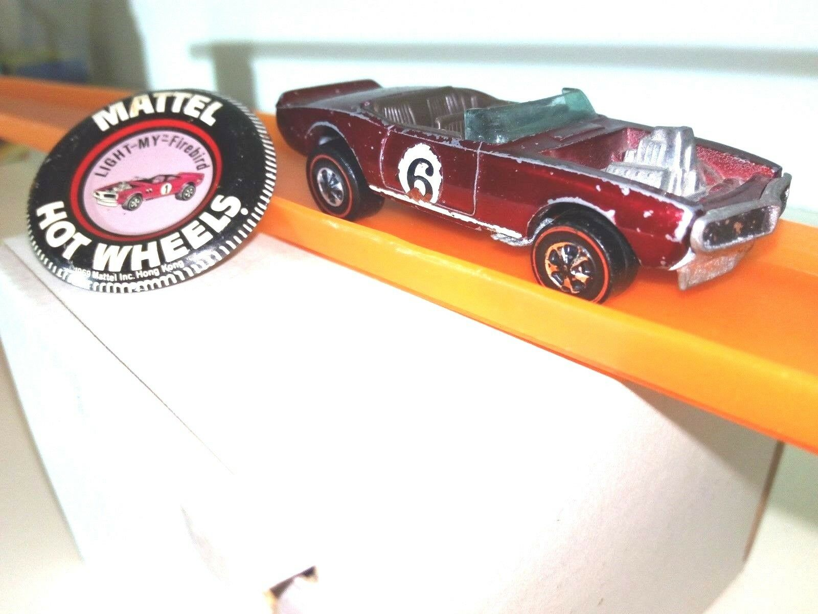 Hot Wheels rougeLINER by Mattel org.1969  LIGHT MY Firebird  avec org. Button culte