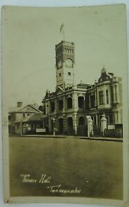 TOOWOOMBA-TOWN-HALL-EARLY-1900-S-REAL-PHOTO-POSTCARD-QUEENSLAND