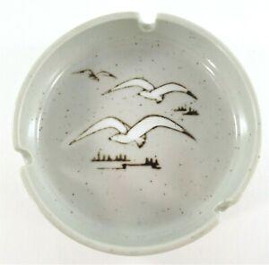 Vintage-Mid-Century-Otagiri-Brown-Speckled-Seagull-Ceramic-Stoneware-Ashtray