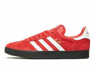 Red Suede uk Gazelle Gum Bnib White Adidas Stripes Originals Black 8 qHtWE