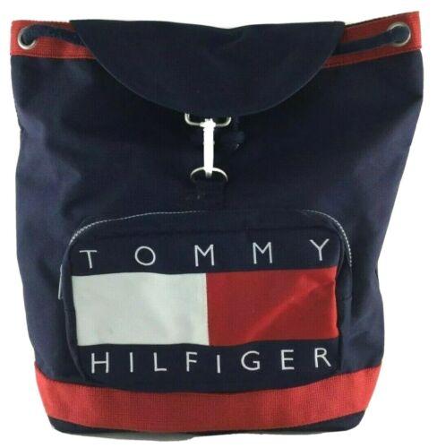 Vintage Tommy Hilfiger Backpack Nap Sack Tote Bag