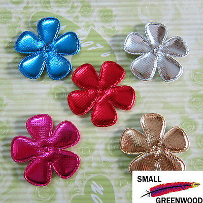 "(U Pick) Wholesale 50-500 Pcs. 2"" Padded Shiny Felt Flower Appliques F3500FA"