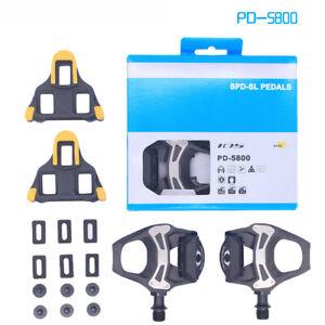 105-PD-5800-Carbon-SPD-SL-Road-Bike-Pedals-w-SM-SH11-Cleats-Sport-Black-Pair