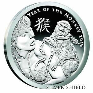 2016-5oz-2oz-1oz-Proof-Set-Year-of-the-Monkey-Silver-Shield-Group-SSG-Round-777
