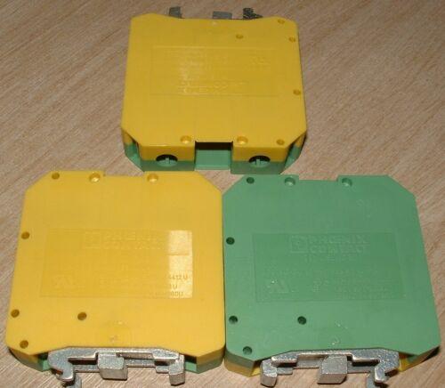 Phoenix DIN Rail earth Terminal Blocks USLKG-50 0443049 50mm 150A