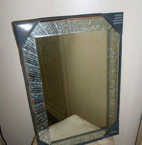 New large silver glitter framed mirror 60 x 40 cms hang for 60 inch framed mirror