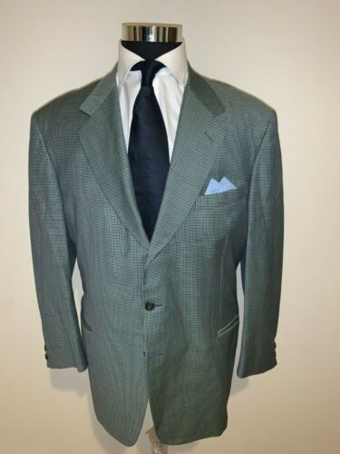 ⭐️ CANALI  LIGHT GREEN HOUNDSTOOTH   SPORTCOAT JAC