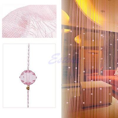 Fashion String Curtain Beads Panel Fringe Room Door Window Divider Blind Panel