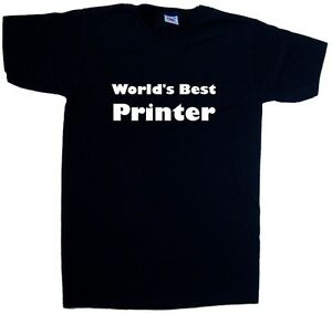 World-039-s-Best-Printer-V-Neck-T-Shirt