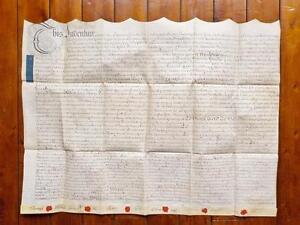 1755-vellum-document-West-Haddon-Northamptonshire-Marriage-settlement