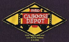"""LMH Patch  RED CABOOSE DEPOT Restaurant STRASBURG Railroad Cupola Station 4-1/2"""""""
