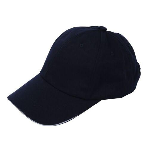 Plain Baseball Cap Mens Ladies Adult Hat Summer-Navy blue U8X5
