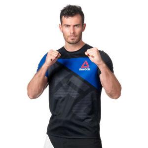 75e67c597ad Men s Reebok UFC Fight Kit Blank Jersey T-Shirt Black 100% Polyester ...