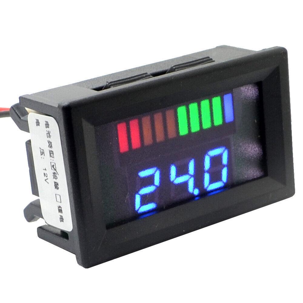 12V Acid Lead Batteries Indicator Digital LED Tester Voltmeter With Dual Display