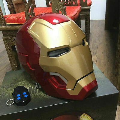 Iron Man 1/1 Scale Wearable Open Close Mk42 Helmet Roan Toys Cosplay Model Figure by Cattoys