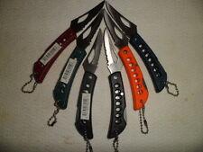 Wholesale Lot of 6 Folding Blade Keychain Knives Mini Lockback Pocket Knife New