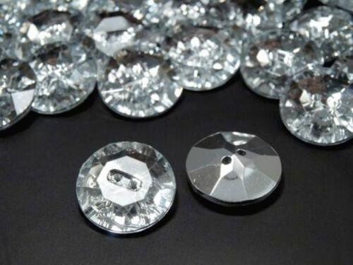 2 Lots boutons 25 mm bouton en plastique dans krystalloptik 1stk//0,55 € coudre 1112