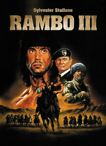 Rambo Iii 1988 Sylvester Stallone Movie Poster 24x33 Inches Ebay