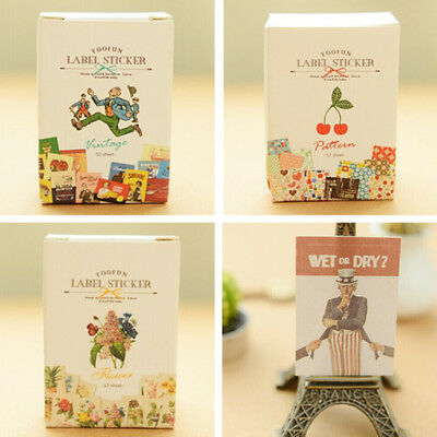 1 box retro poster Stickers Diary Decor Diy Scrapbooking Stationery Sticker FMUS