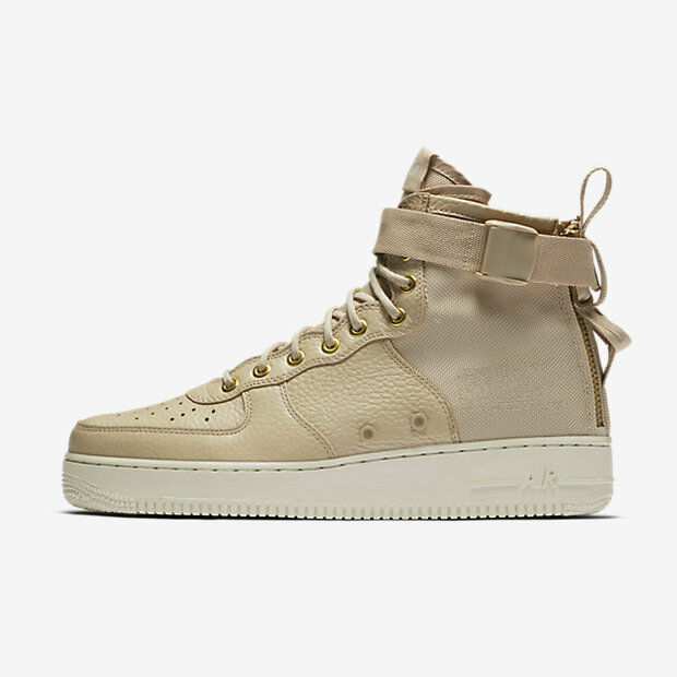 New Nike Men's SF Air Force 1 Mid Shoes (917753-200)  Mushroom/Lt Bone/Mushroom