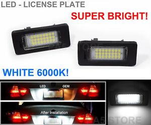 Iluminación de la matrícula LED blanco con e-autorización para bmw e70 e71//e39