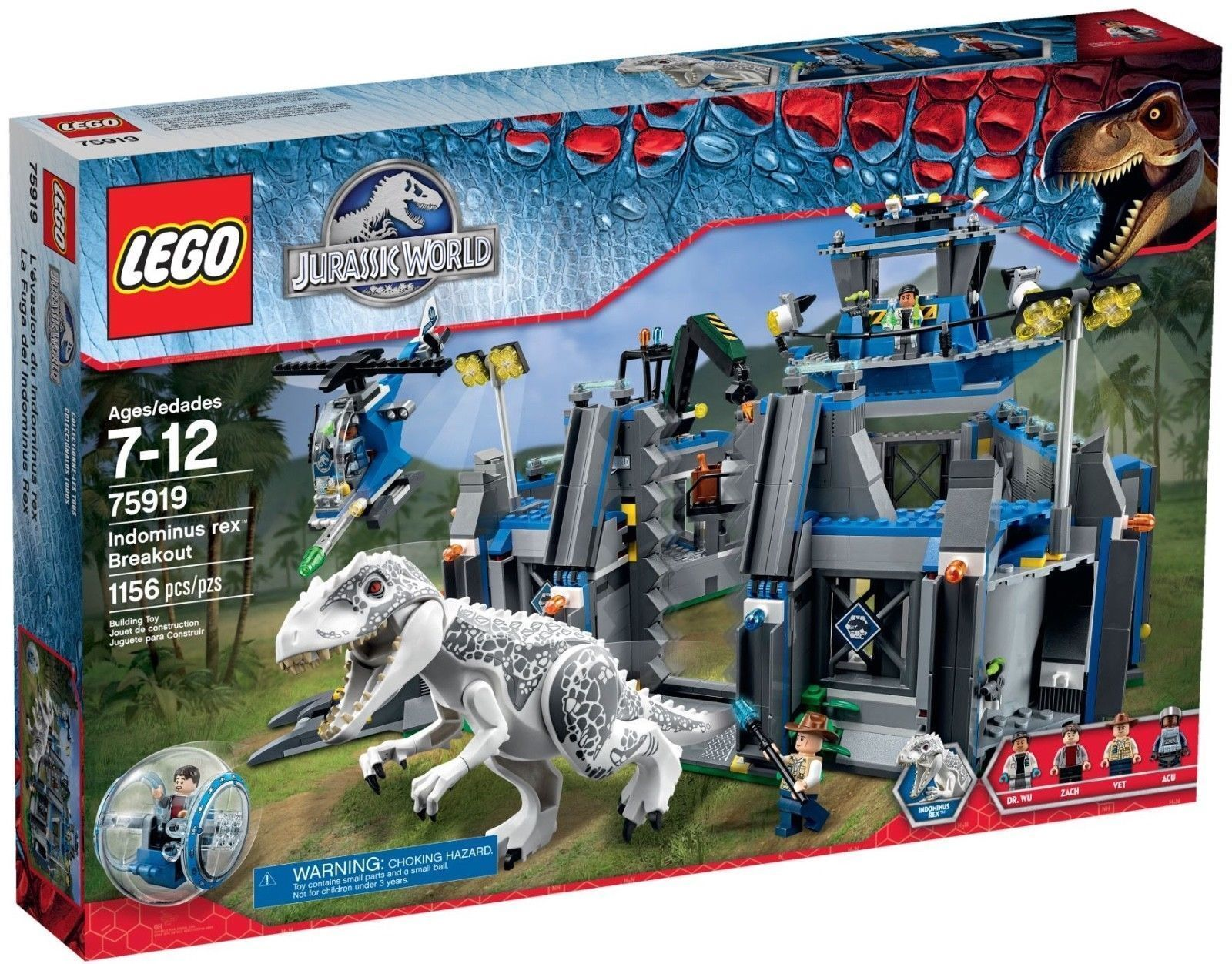 LEGO JURASSIC WORLD 75919 Indominus Rex Breakout SEALED  retirosso MINT gratuito SHIP  punti vendita